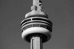 CN Tower bw