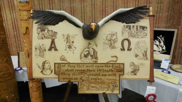 Eagle Relief and Pyrography By Tony Endhoven